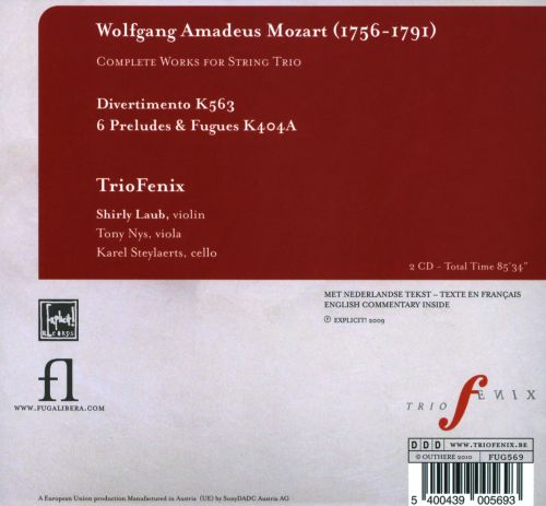 Mozart: Complete Works for String Trio