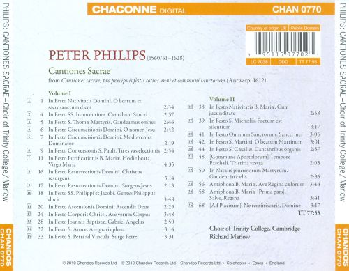 Peter Philips: Cantiones Sacrae, 1612