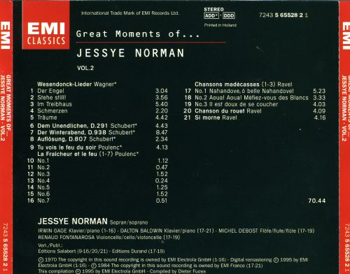 Great Moments of... Jessye Norman, Vol. 2