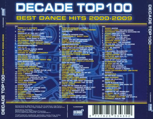 Decade top 100 best dance hits 2000 2009 various for 90s house tracks