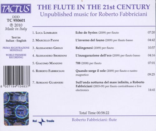 The Flute in the 21th Century