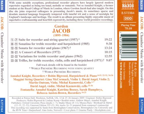 Gordon Jacob: Chamber Music with Recorder