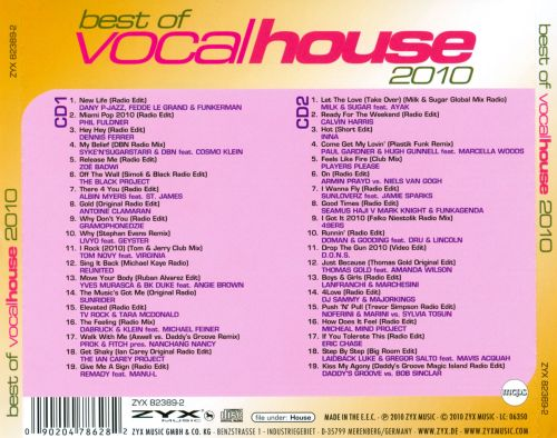 Best of vocal house 2010 various artists songs for Vocal house songs