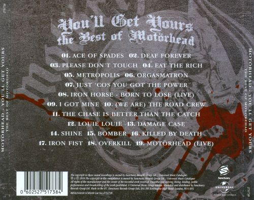 You'll Get Yours: The Best of Motörhead