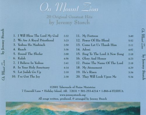 On Mount Zion: The Best Of Jeremy Storch