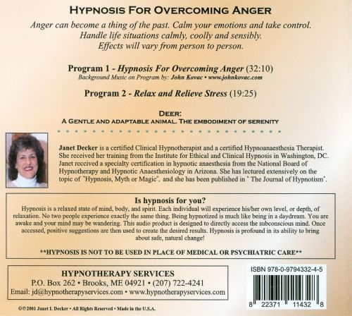 Hypnosis For Overcoming Anger