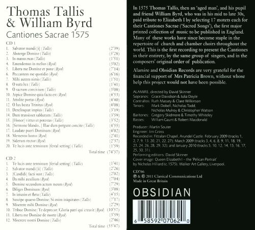 Thomas Tallis & William Byrd: Cantiones Sacrae 1575