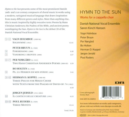 Hymn to the Sun: Works for A Cappella Choir