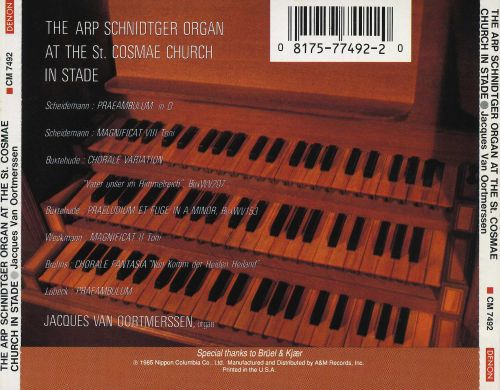 The Arp Schnidtger Organ at the St. Cosmae Church in Stade