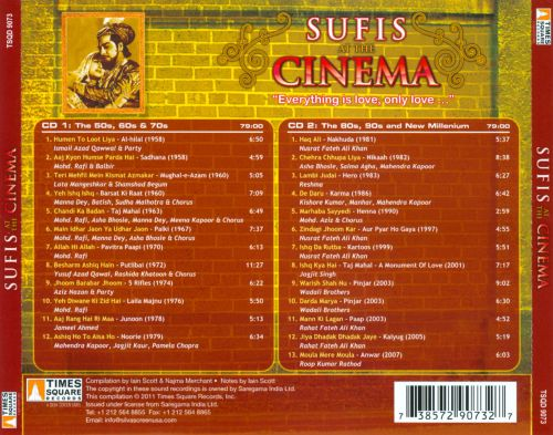Sufis at the Cinema: 50 Years of Bollywood Qawwali & Sufi Song 1958-2007