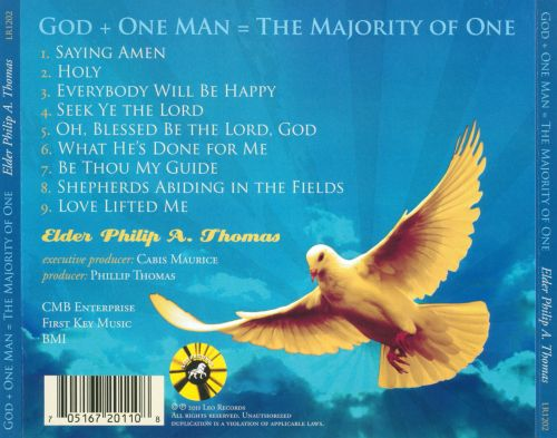 God + One Man = The Majority of One