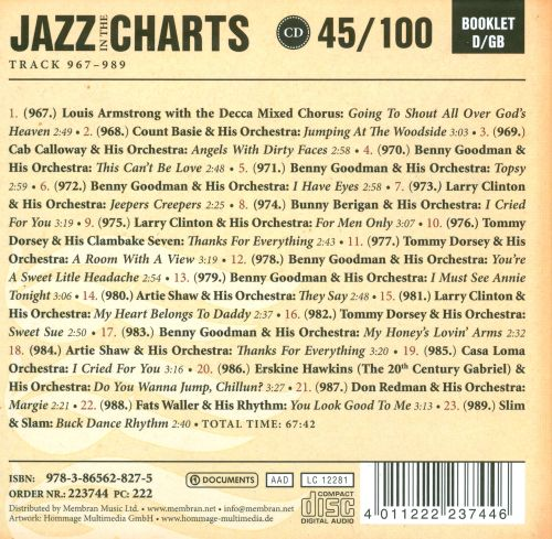 Jazz In the Charts 45/100: Jeepers Creepers 1938-1939