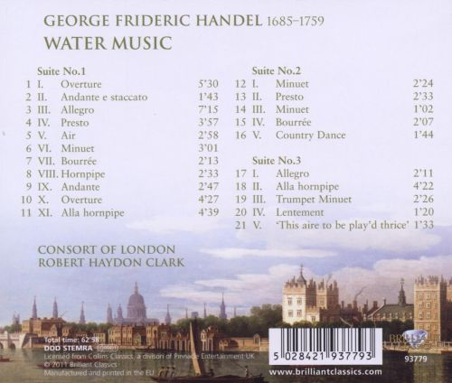 george frideric handels water music essay George frideric handel aka georg friedrich h ndel while h ndel remains the correct version in germany his father was a barber-surgeon, who disapproved of music, and wished george frederick to become by his advice handel wrote the water music which was performed at a royal water.