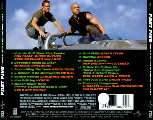 Fast Five [Original Motion Picture Soundtrack]