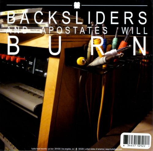 Backsliders and Apostates Will Burn