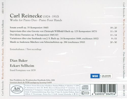 Carl Reinecke: Works for Piano Duo & Piano, Four Hands