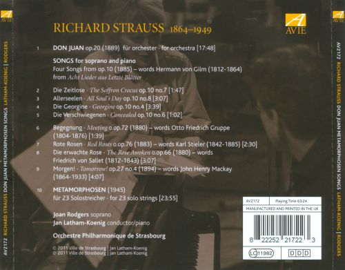 Strauss: Don Juan; Metamorphosen; Songs for Soprano