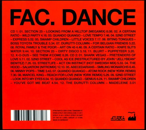 fac dance factory records 12 mixes rarities 1980 1987 various artists songs reviews. Black Bedroom Furniture Sets. Home Design Ideas