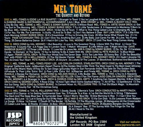 The Many Sides of Mel Tormé: The Quintet and Beyond, 1944-1960