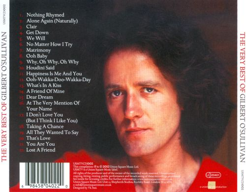 The Very Best of Gilbert O'Sullivan: A Singer & His Songs