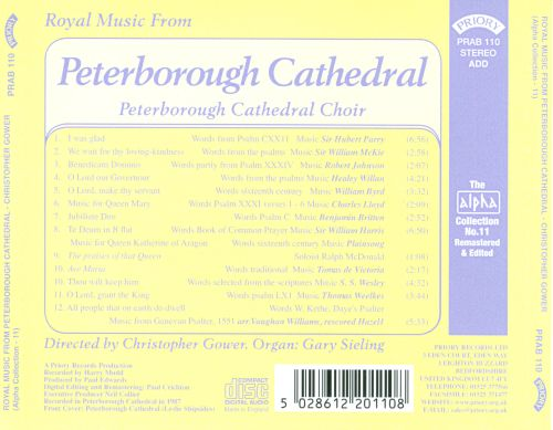 Royal Music from Peterborough Cathedral