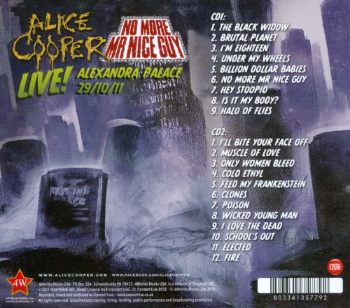 No More Mr Nice Guy: Live - Alice Cooper | Songs, Reviews ...