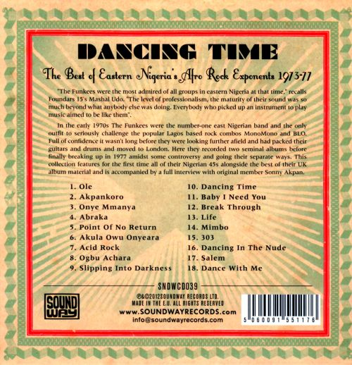 Dancing Time: The Best of Eastern Nigeria's Afro Rock Exponents 1973-77
