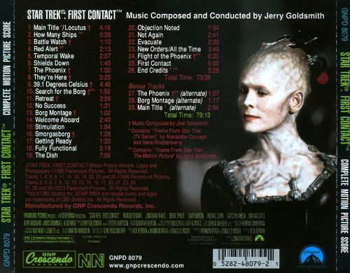 Star Trek: First Contact Complete Motion Picture Score