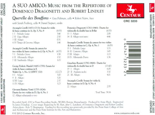 A Suo Amico: Music from the Repertoire of Domenico Dragonetti & Robert Lindley