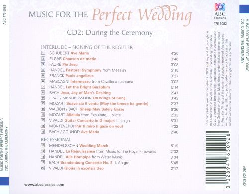 Music for the Perfect Wedding, CD2: During the Ceremony