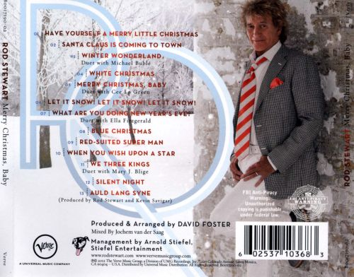 rod stewart merry christmas baby list of songs
