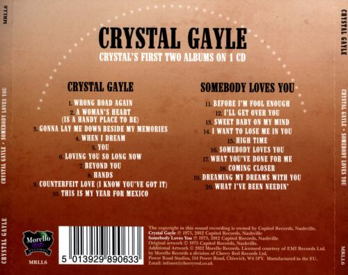 Crystal Gayle/Somebody Loves You