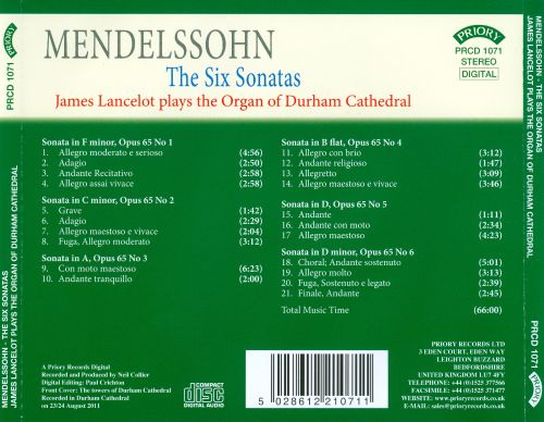 Mendelssohn: The Six Sonatas