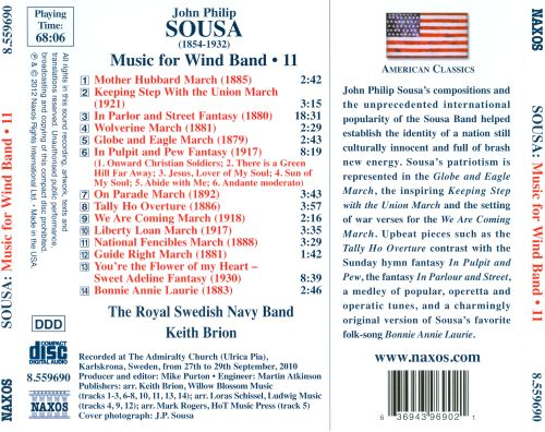 Sousa: Music for Wind Band, Vol. 11