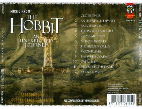 Plays Music from the Hobbit: An Unexpected Journey