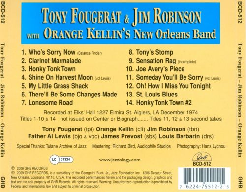 Tony Fougerat & Jim Robinson With Orange Kellin's New Orleans Band