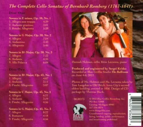 The Complete Cello Sonatas of Bernhard Romberg