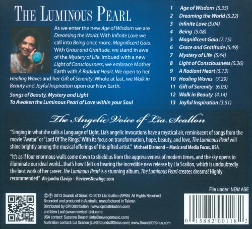 The Luminous Pearl: Songs of Mystery, Beauty and Light