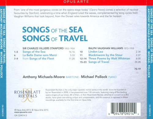 Stanford: Songs of the Sea; Vaughan Williams: Songs of Travel