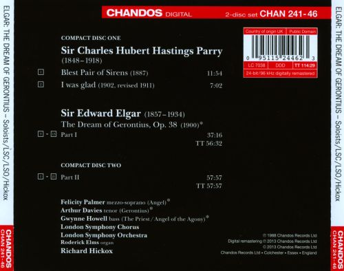 Elgar: The Dream of Gerontius; Parry: Blest Pair of Sirens; I Was Glad