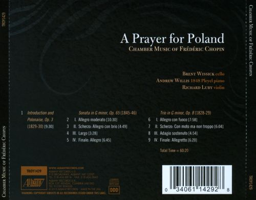 A Prayer for Poland: Chamber Music of Frédéric Chopin