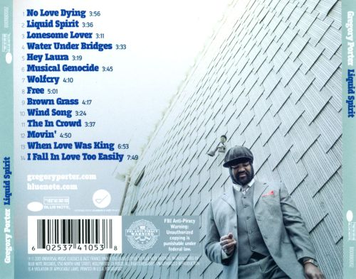 Liquid spirit gregory porter songs reviews credits - Gregory porter liquid spirit album download ...