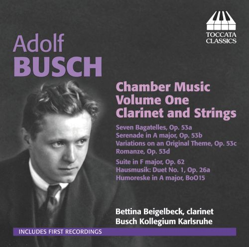 Adolf Busch: Chamber Music, Vol. 1 - Clarinet and Strings