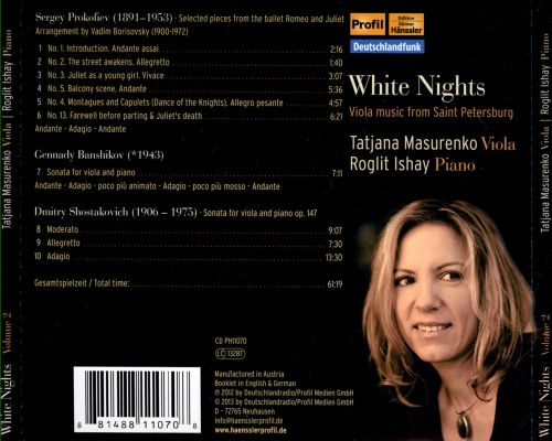 White Nights: Viola Music from Saint Pertersburg, Vol. 2