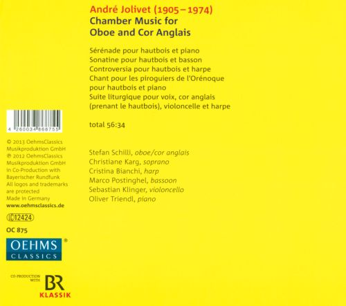 André Jolivet: Chamber Music for Oboe and Cor Anglais