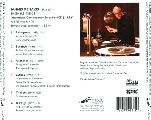 Xenakis: Ensemble Music 3