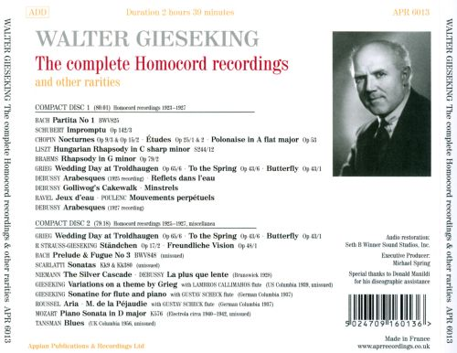 The  Complete Homocord Recordings and Other Rarities