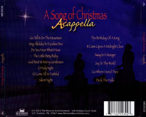 Song Of Christmas: Acappella