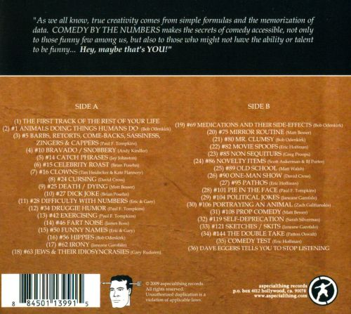 McSweeney's Comedy By the Numbers: The Book-On-Tape: The CD!
