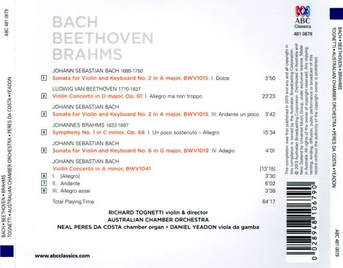 Bach, Beethoven, Brahms